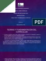 Teoria y Fundamentacion Del Curriculum