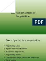 The Social Context of Negotiation