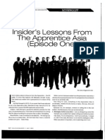 Insider's Lesson From Apprentice Asia
