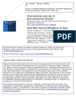 Acid Rain and Its Mitigation in Asia