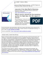 Which Country Should Be the Monetary Anchor for East Asia