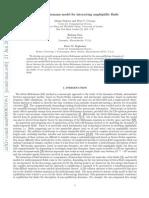 A Lattice-Boltzmann Model for Interacting Amphiphilic _001