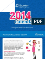 Experian Sales Calendar