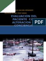 Evaluacion Del Paciente Con Alteracion de Con Ciencia