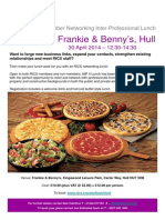 Yorkshire & Humber Networking Inter-Professional Lunch