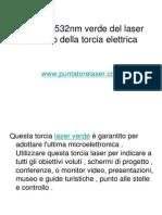 2000mw 532nm Verde Del Laser Di Fascio Della Torcia Elettrica Puntatorelaser.com