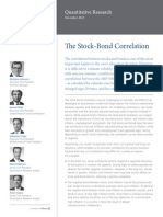 PIMCO Quantitative Research Stock Bond Correlation Oct2013
