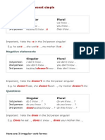 English Grammar Explanations - Present Simple - How to Form the Present Simple