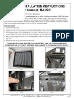 KN BA 2201 Installation Instructions