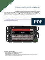 Chevrolet Monte Carlo sat nav voiture système de navigation GPS