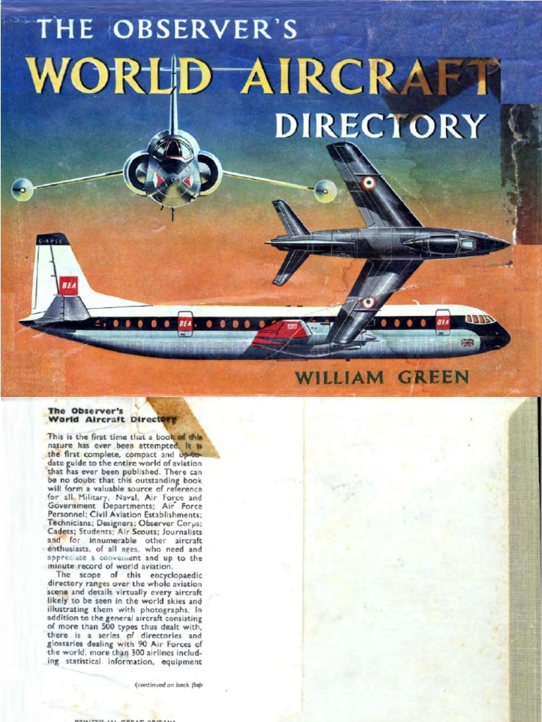 1961 The Observers World Aircraft Directory Kompresor Kia Vistor Hcc Ori