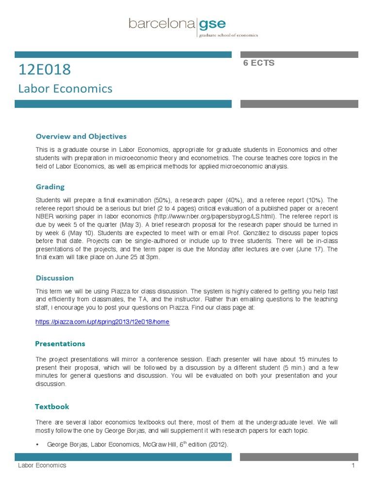 Labor Economics | Lecture | Employment Discrimination