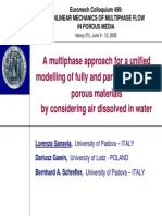 A Multiphase Approach for a Unified Modelling of Fully and Partially Saturated Porous Materials by Considering Air Dissolved in Water
