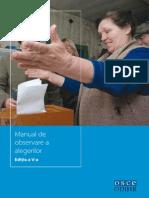 Manual de Observare a Alegerilor. OSCE