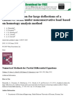 Analytical Solution for Large Deflections of a Cantilever Beam Under Nonconservative Load Based on Homotopy Analysis Method