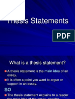 thesis statement 5th ppt