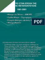 Σημειώσεις για τη Β΄ Μεταπολιτευτική περίοδο 1981-2001 X