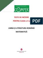 teste Comper limba romana si matematica ClasaV-2010-2011-Initiere