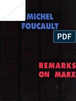 Foucault, M - Remarks on Marx