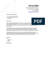 Cover Letter & Cv Steven Salim