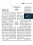 Articulo Yo Vendo y No Compran M Santos