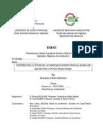 Cheikh-Zouaoui M. Etude cinétique d'hydratation au jeune age des bétons à hautes résistances