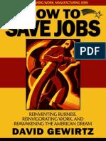 How to Save Jobs by David Gewirtz