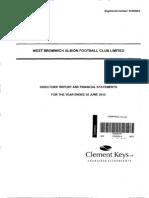 West Bromwich Football Club Limited 2013