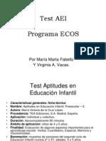 Test AEI y Programa ECOS