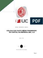 Bruno Ferreira Santos (2002017797) - Cálculo de Custo Médio Ponderado do Capital da Empresa ABC, S.A.