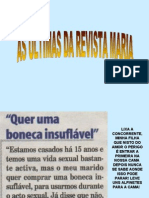 "As últimas da revista ""Maria"""