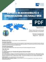 Programma Corso Perfezionamento Esperto in Accessibilita e Comunicazione Culturale Web 07 Apr