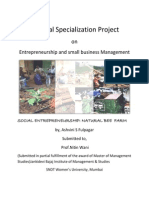 Sectoral RepSMALL BUSINESS SETUP- HONEY PRODUCTIONort-honey Production