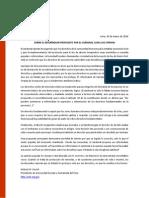 Comunicado - Sobre El Referendum Propuesto Por Cipriani