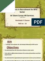 job analysis of BFSI sector