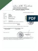 Il Certificato Penale di Giancarlo Fornei, Candidato all'Europarlamento alle elezioni di maggio 2014 nell'Italia dei Valori...