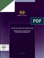 Norma Planificacion Participativa Municipal
