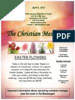 April 6 Newsletter
