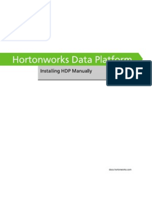 Hortonworks HDP Installing Manually Book | Apache Hadoop