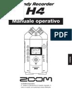 Manuale Zoom H4 | Vecchio Modello