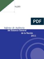 Auditoría del Balance General de la Nación 2011