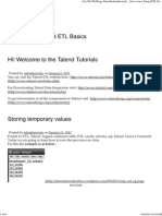 Talendtutorials Get to Learn Talend ET Basics