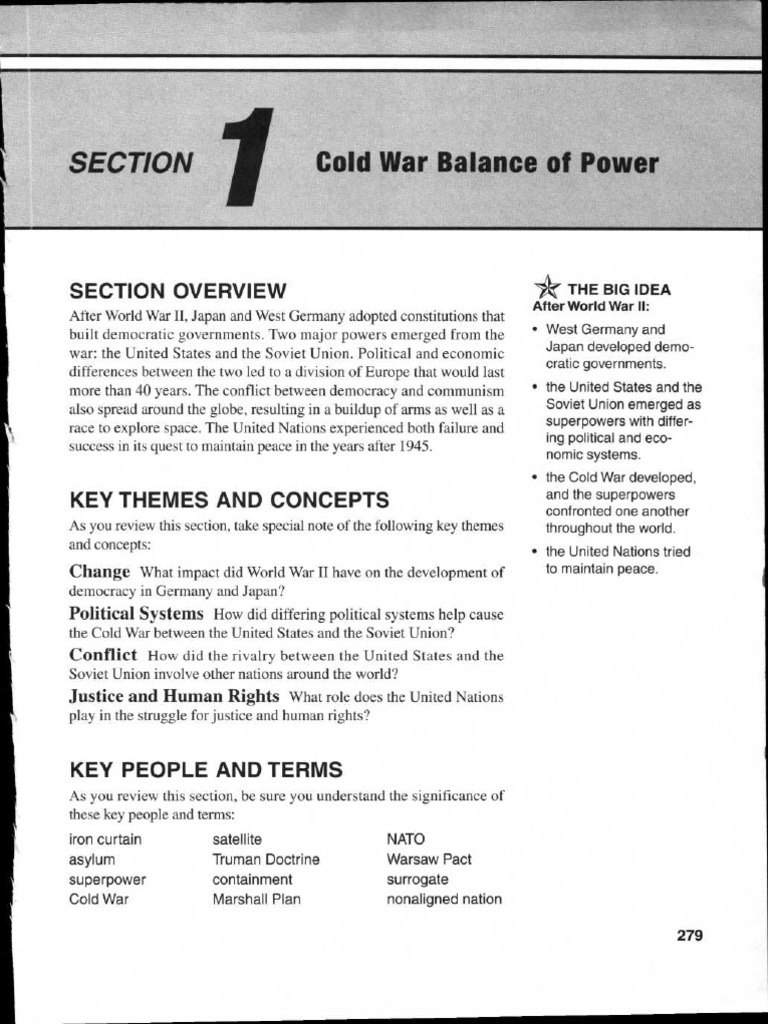 Review Unit 7 Pages 279 331 Cold War Mao Zedong