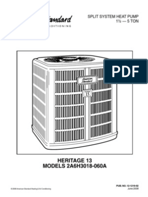 Heritage 13 Heat Pump Outside Unit Owners Manual | Air Conditioning | Heat  PumpScribd