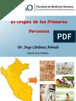 3.- Historia de la Medicina, Tema - Origen de los Primeros Pobladores Peruanos.pptx