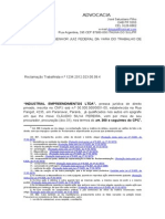 CONTESTAÇÃO INDUSTRIAL EMPREENDIMENTOS E CLAUDIO SILVA PEREIRA