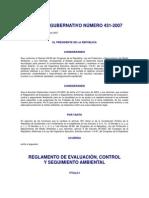 Reg. de Evaluacion de Control y Seguimiento Ambiental 431-2007 y Su Reforma 173-210