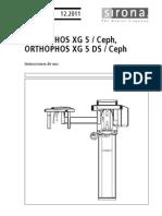 Manual de Usuario de ORTHOPHOS XG 5