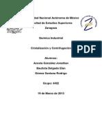 Cristalización y centrifugación