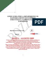 Linee Guida Riparazione e Rafforzamento Bozza Agosto 2009